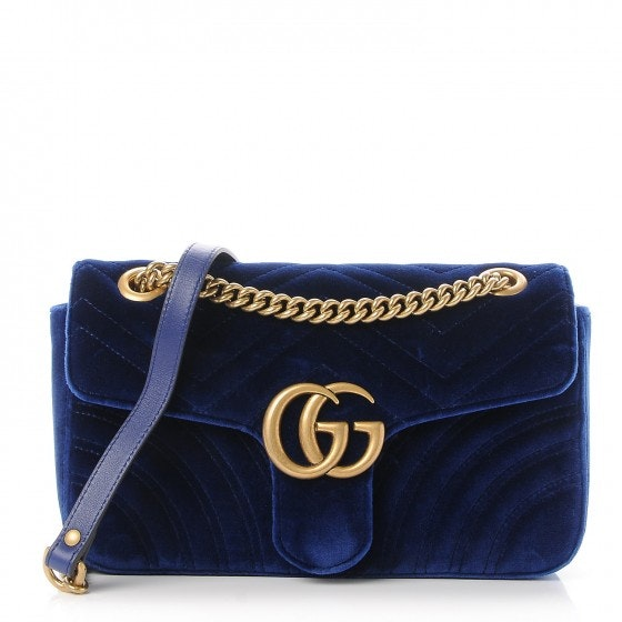 Gucci Marmont Matelasse Small Cobalt Blue