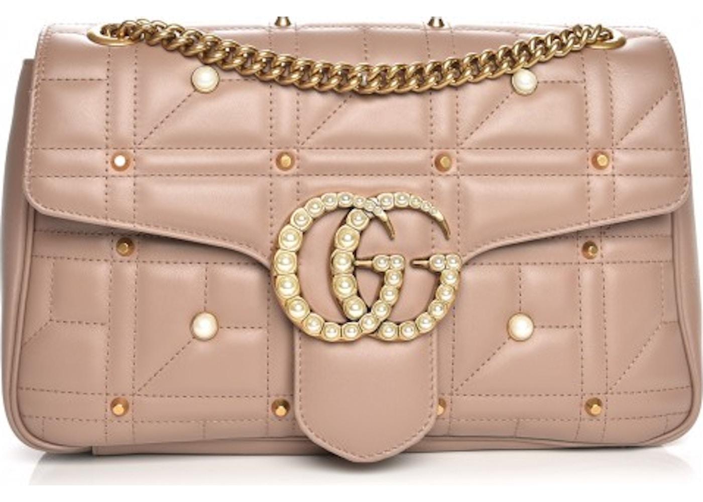 2564acd6a41e Gucci Marmont Shoulder Bag Matelasse Pearly Medium Dusty Pink. Matelasse  Pearly Medium Dusty Pink