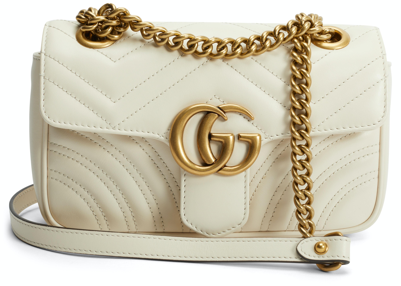 Gucci GG Marmont Shoulder Bag Matelasse Mini White