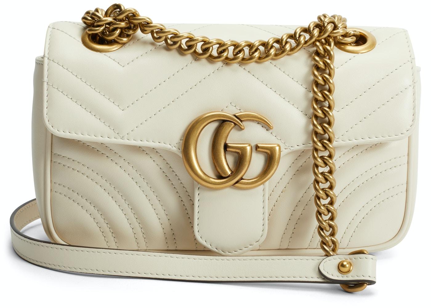 9e2d63470 Gucci Shoulder Bag Marmont Matelasse Mini White. Matelasse Mini White