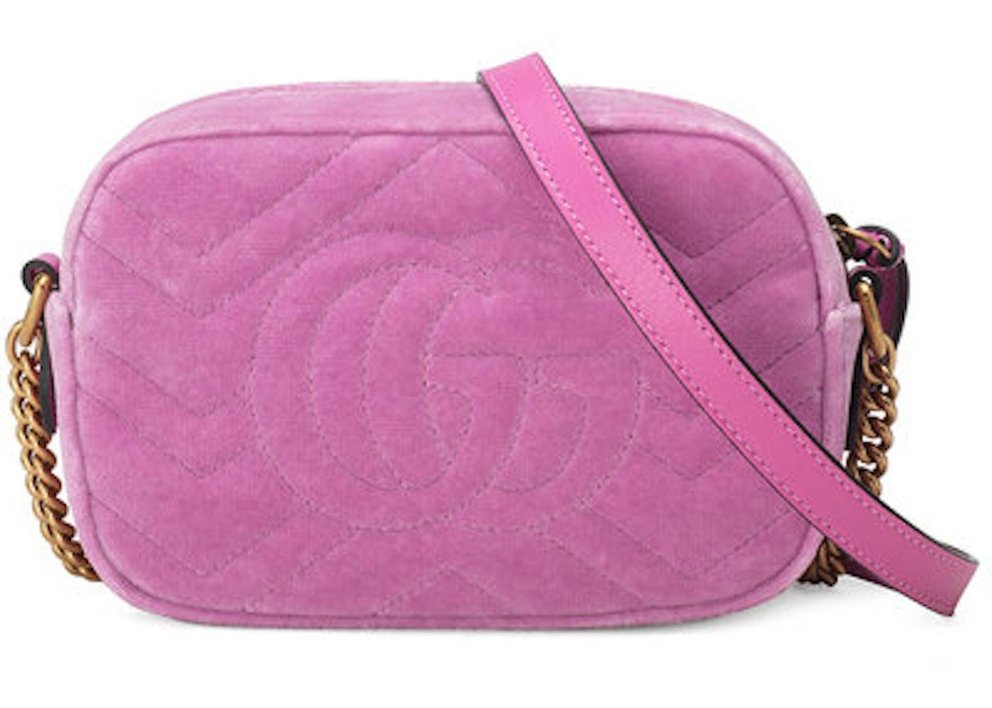 Gucci Shoulder Bag Marmont Matelasse Marquise Crystals Mini Pink