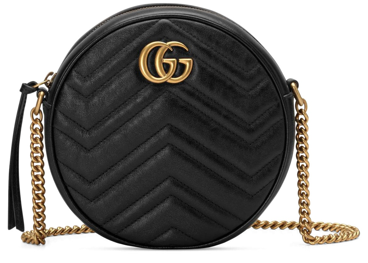 Gucci Marmont Round Shoulder Bag Mini Black