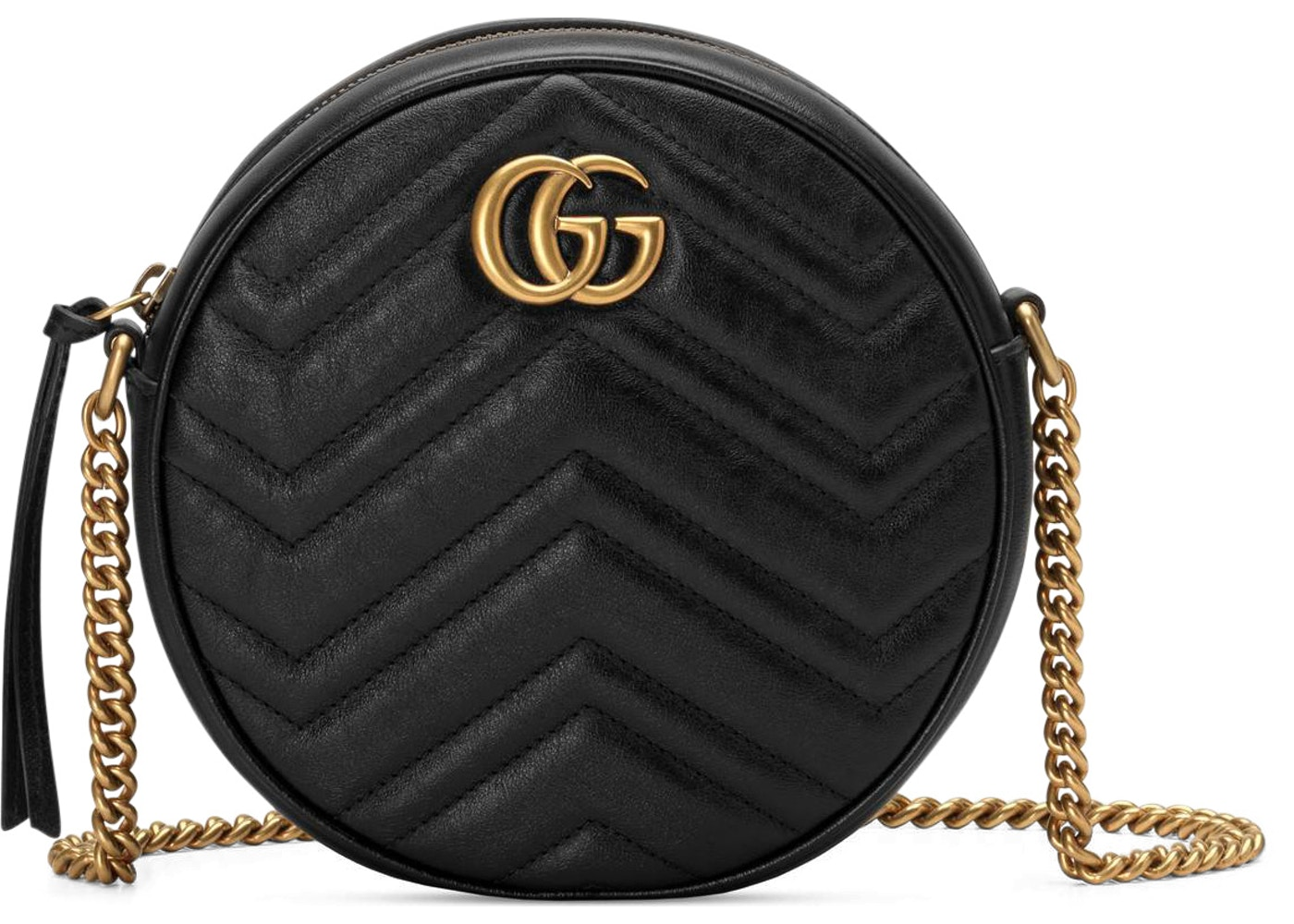 4beb1c85 Gucci Marmont Round Shoulder Bag Mini Black