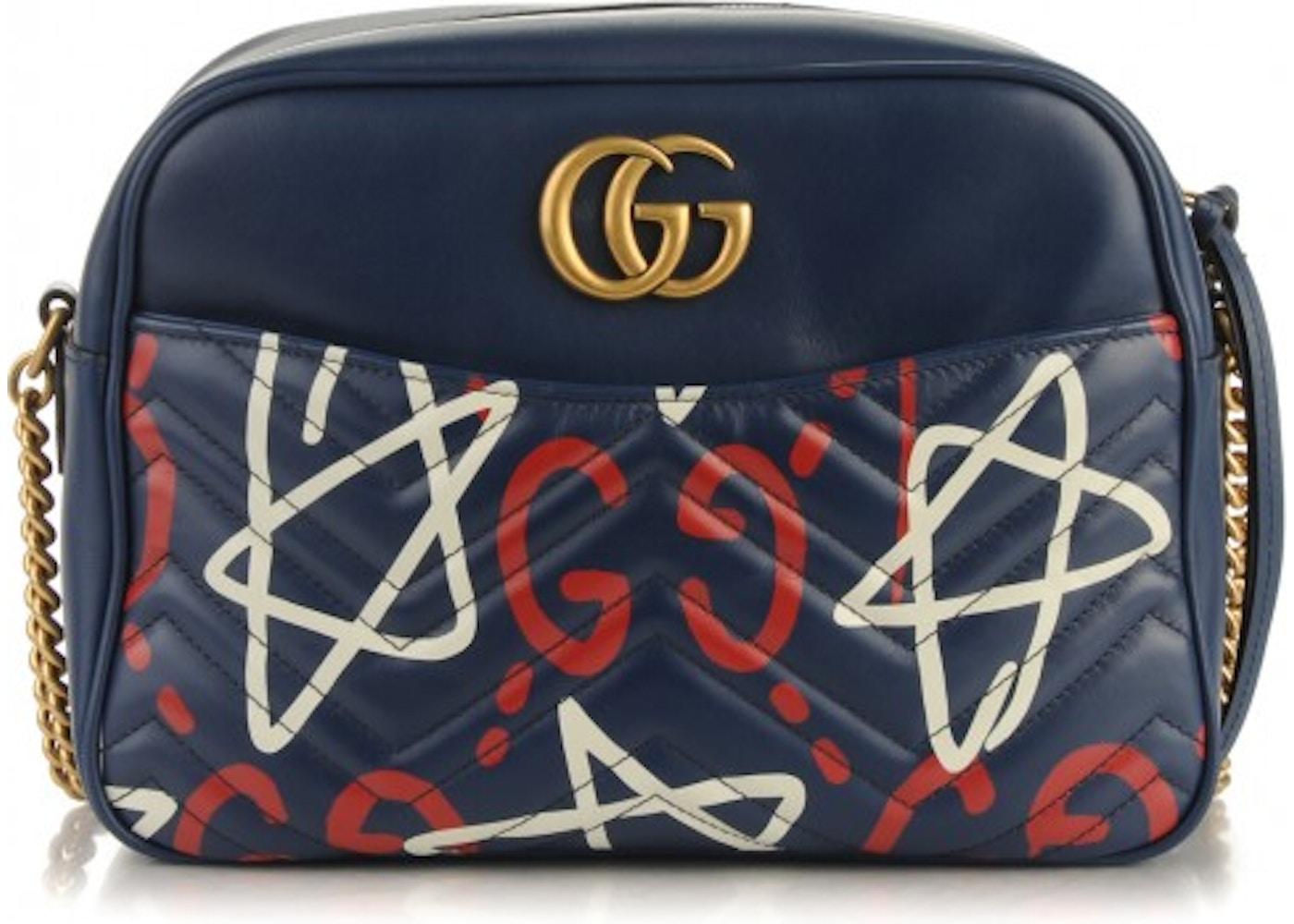 b2baa832d7dc Gucci Shoulder Bag Marmont Guccighost Medium Blue/Red/White