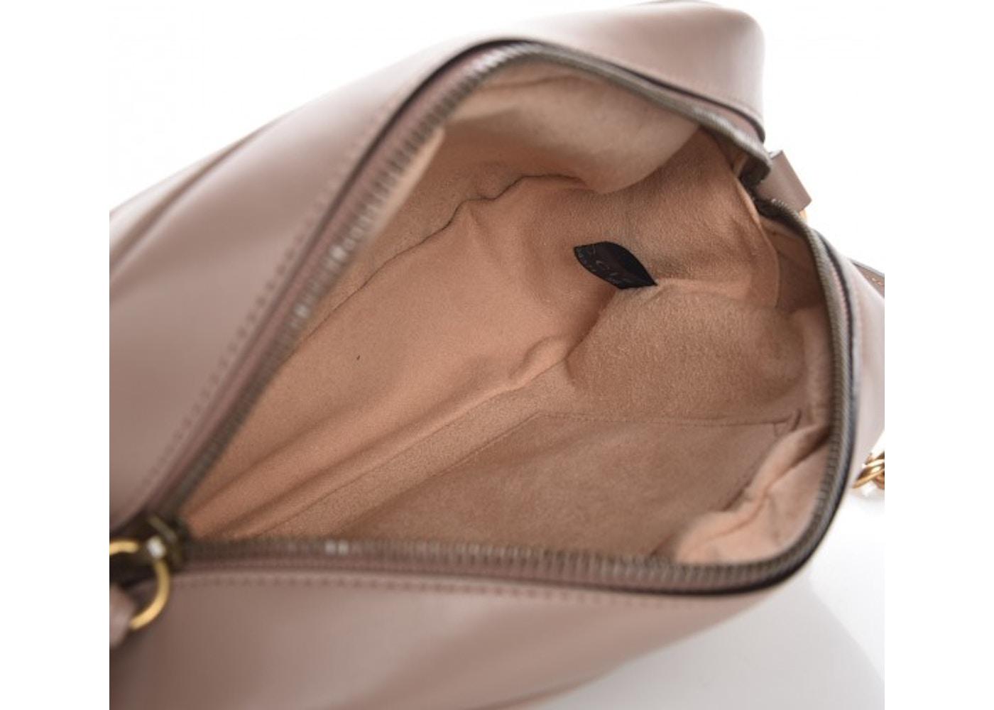212d0ffe087 Gucci Marmont Camera Bag Matelasse GG Small Dusty Pink