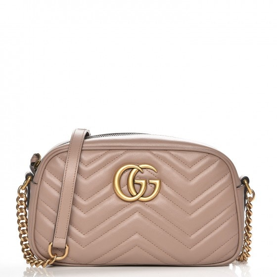 Gucci Marmont Camera Bag Matelasse GG Small Dusty Pink
