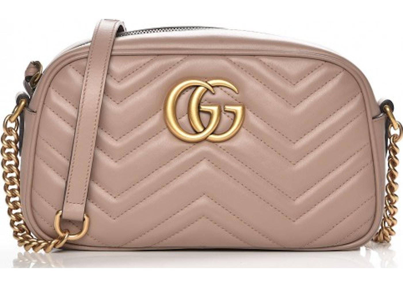 a8ad6b551 Gucci Marmont Camera Bag Matelasse GG Small Dusty Pink