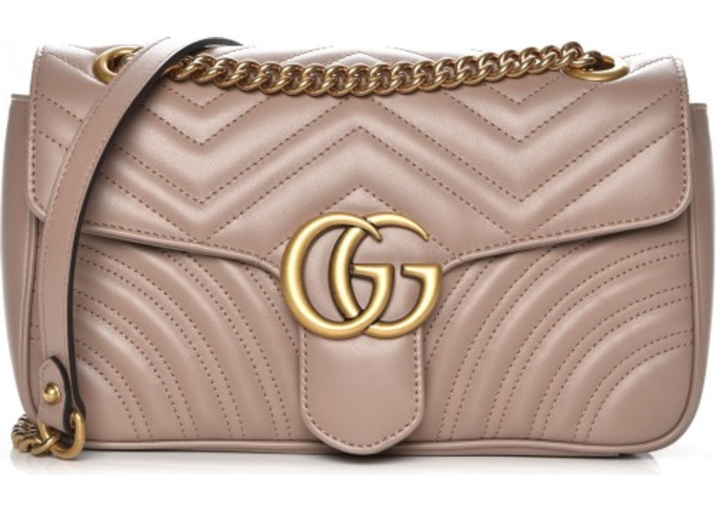 d5d377194296be Gucci Marmont Matelasse GG Small Dusty Pink