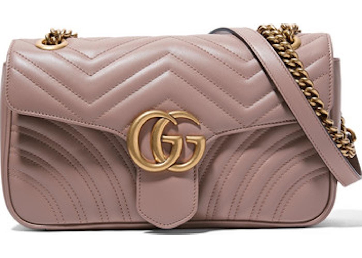 9443a4af8388 Gucci Marmont Matelasse GG Small Porcelain Rose