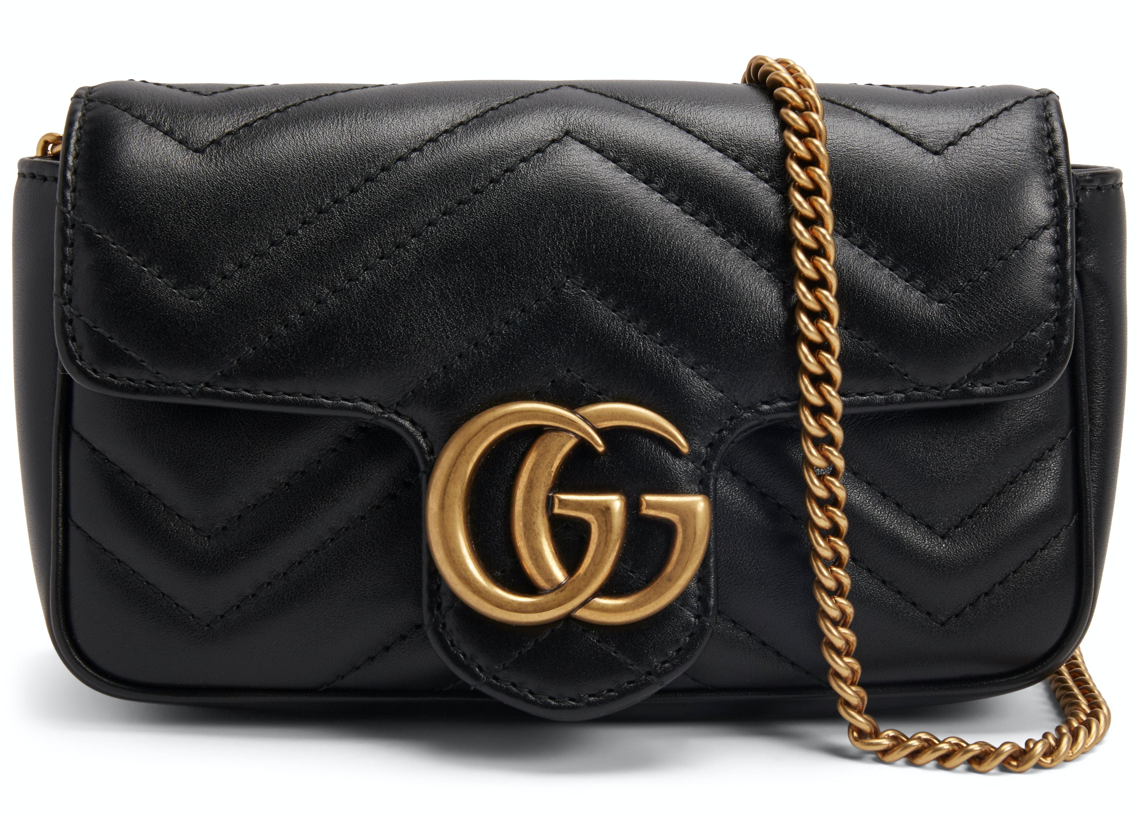 Gucci Marmont Matelasse Super Mini Black