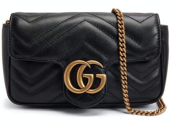 3385d84ef Gucci Marmont Matelasse Super Mini Black