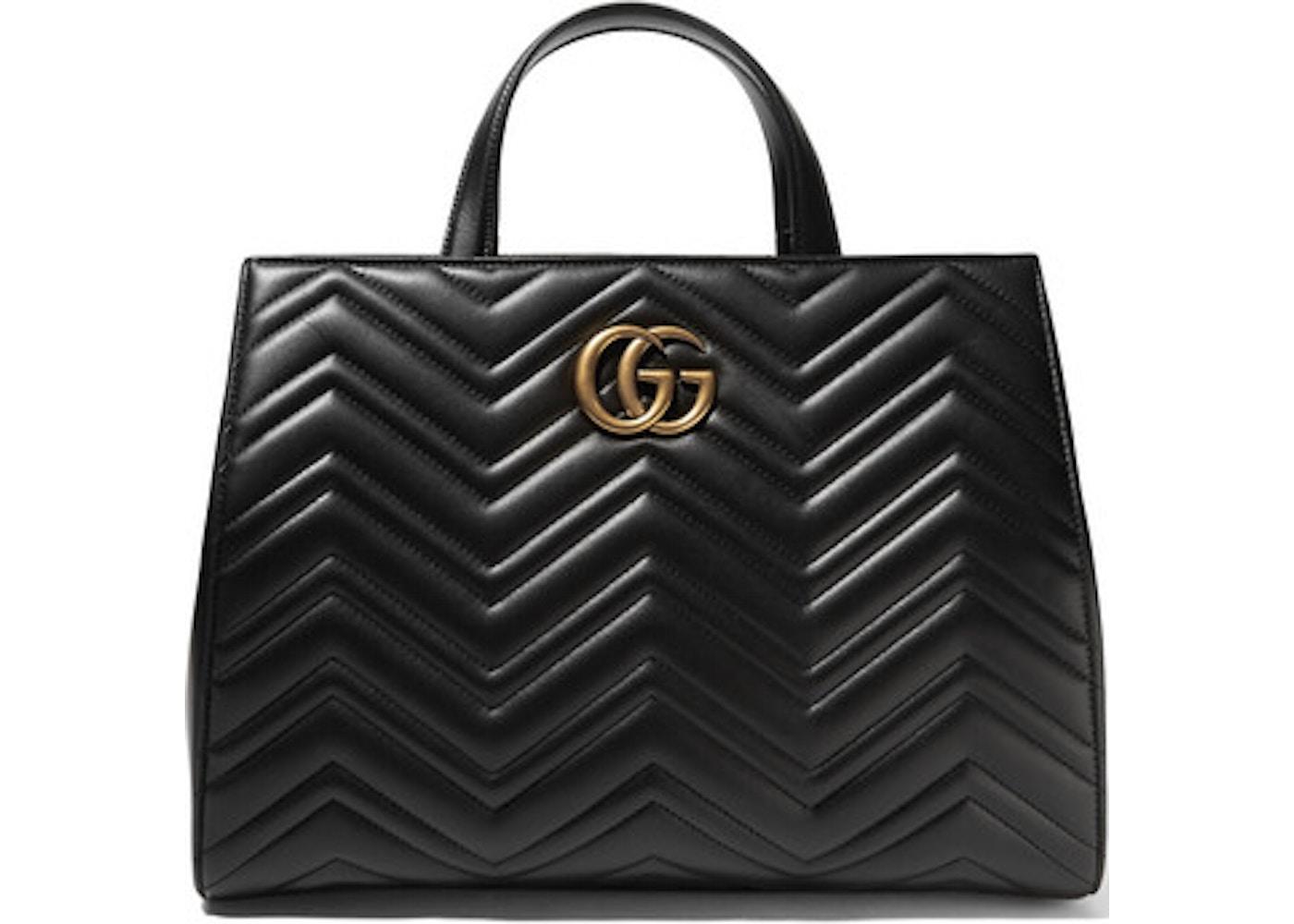 83687d1c3416 Gucci Marmont Tote Matelasse Medium Black. Matelasse Medium Black