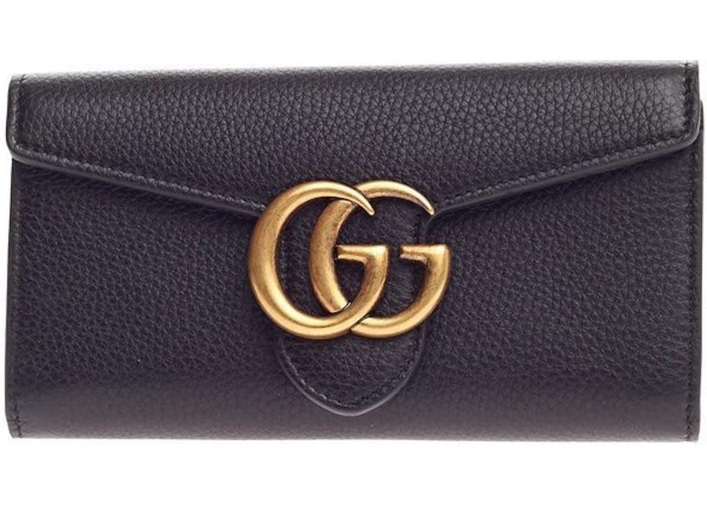 a45f50794ef340 Gucci Marmont Wallet Black. Black