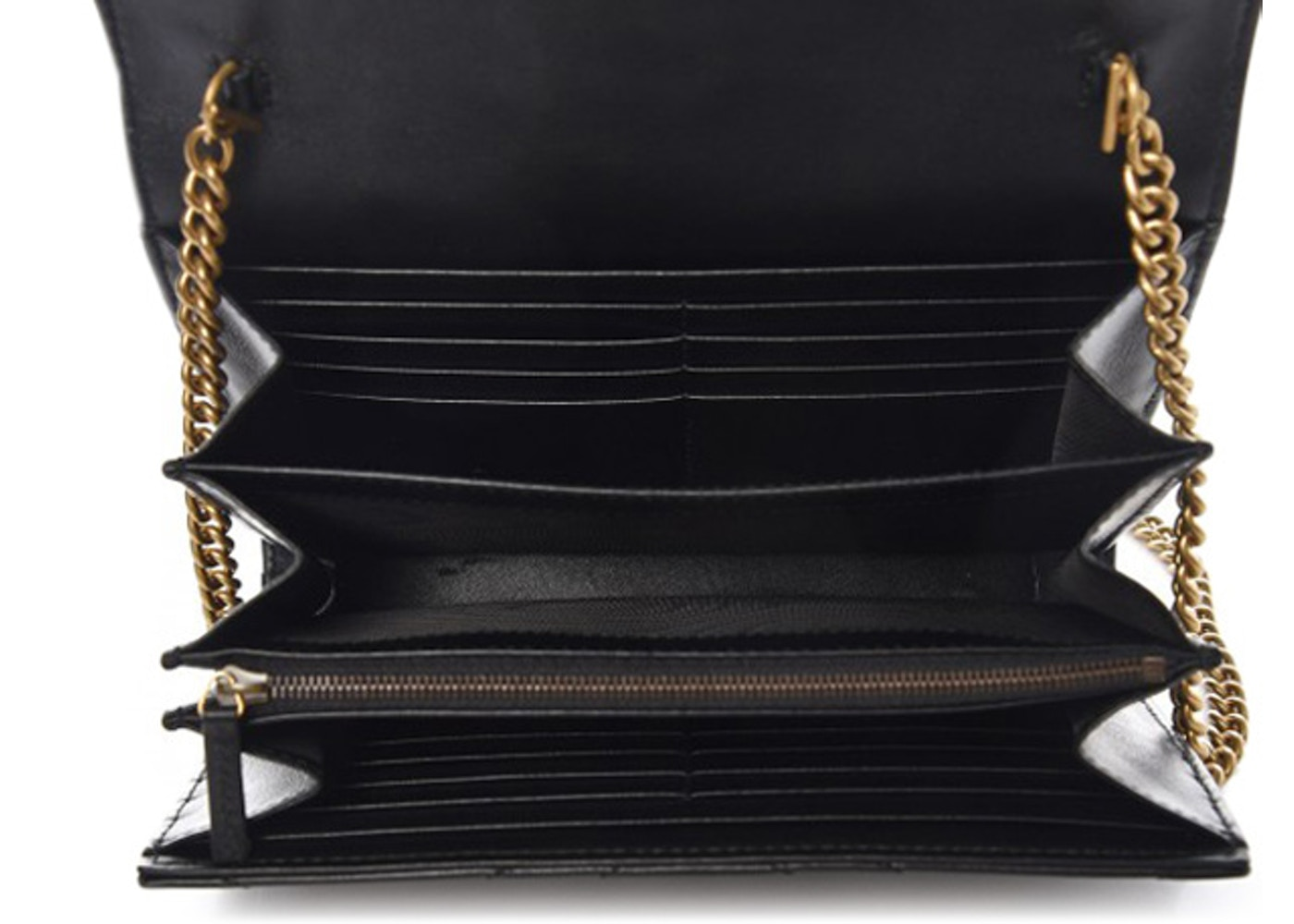 2b5f5661288 Gucci Marmont Wallet on Chain Matelasse Black