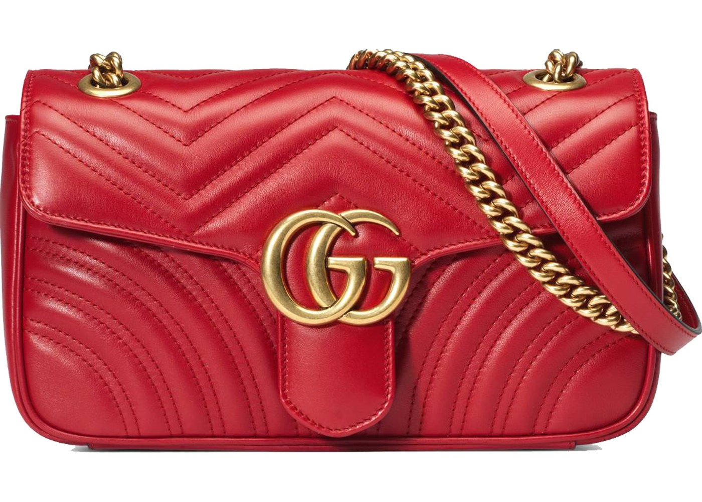 4b2fa713a89 Gucci Marmont Shoulder Bag Matelasse Small Hibiscus Red. Matelasse Small  Hibiscus Red