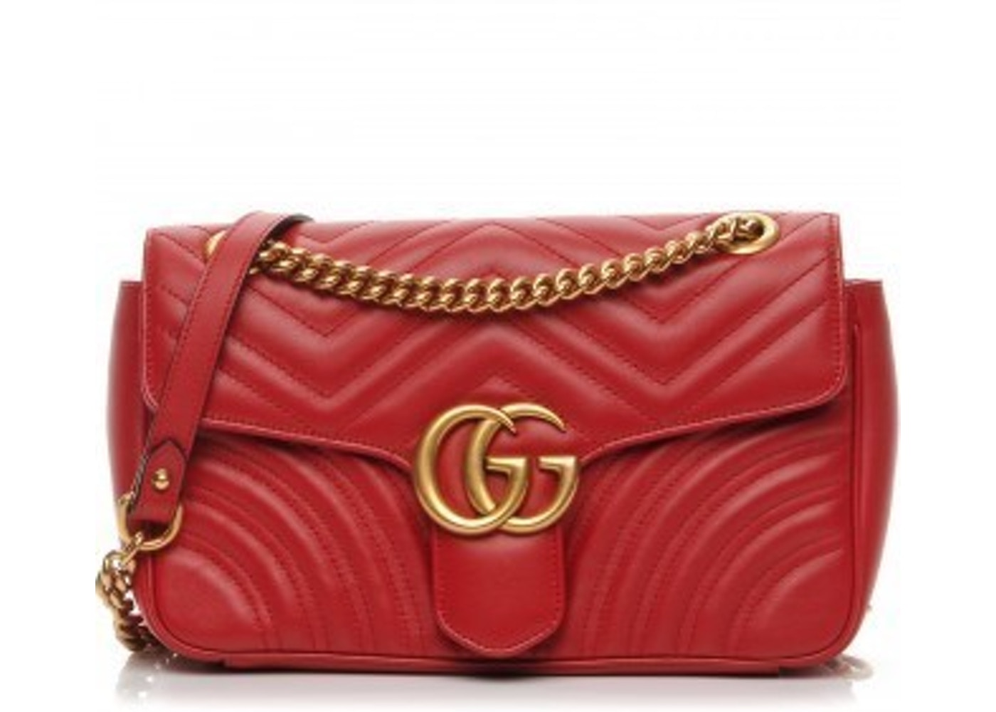 1c020d8e5720 Gucci Marmont Shoulder Bag Matelasse Small Hibiscus Red. Matelasse Small  Hibiscus Red
