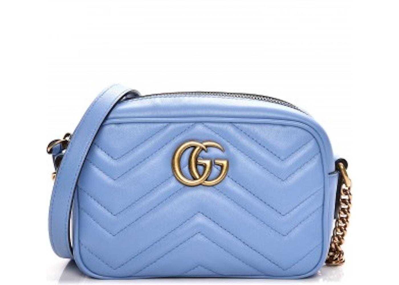 cc879574e670 Gucci Marmont Matelasse GG Interlocking GG Mini Light Blue. GG Interlocking GG  Mini Light Blue