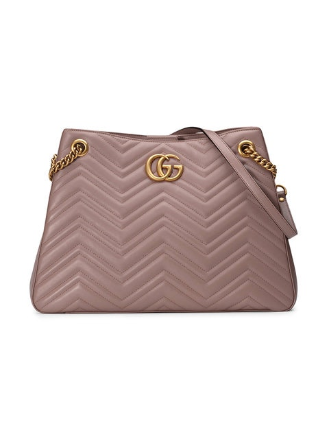 Gucci Marmont Matelasse Chevron Medium Dusty Pink
