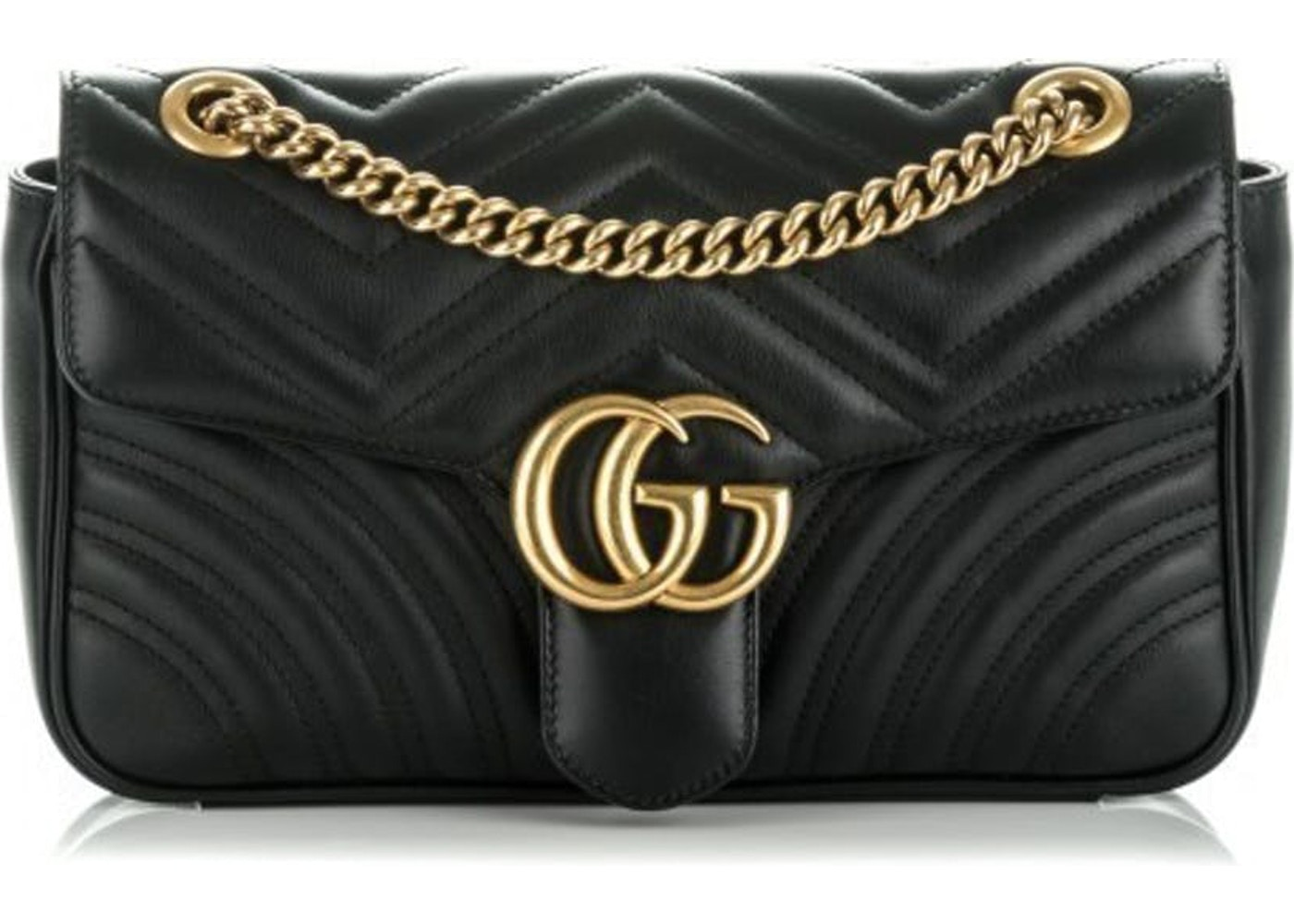 e265cbc29ba455 Bid. Get the Gucci Marmont Shoulder Matelasse Small Black ...