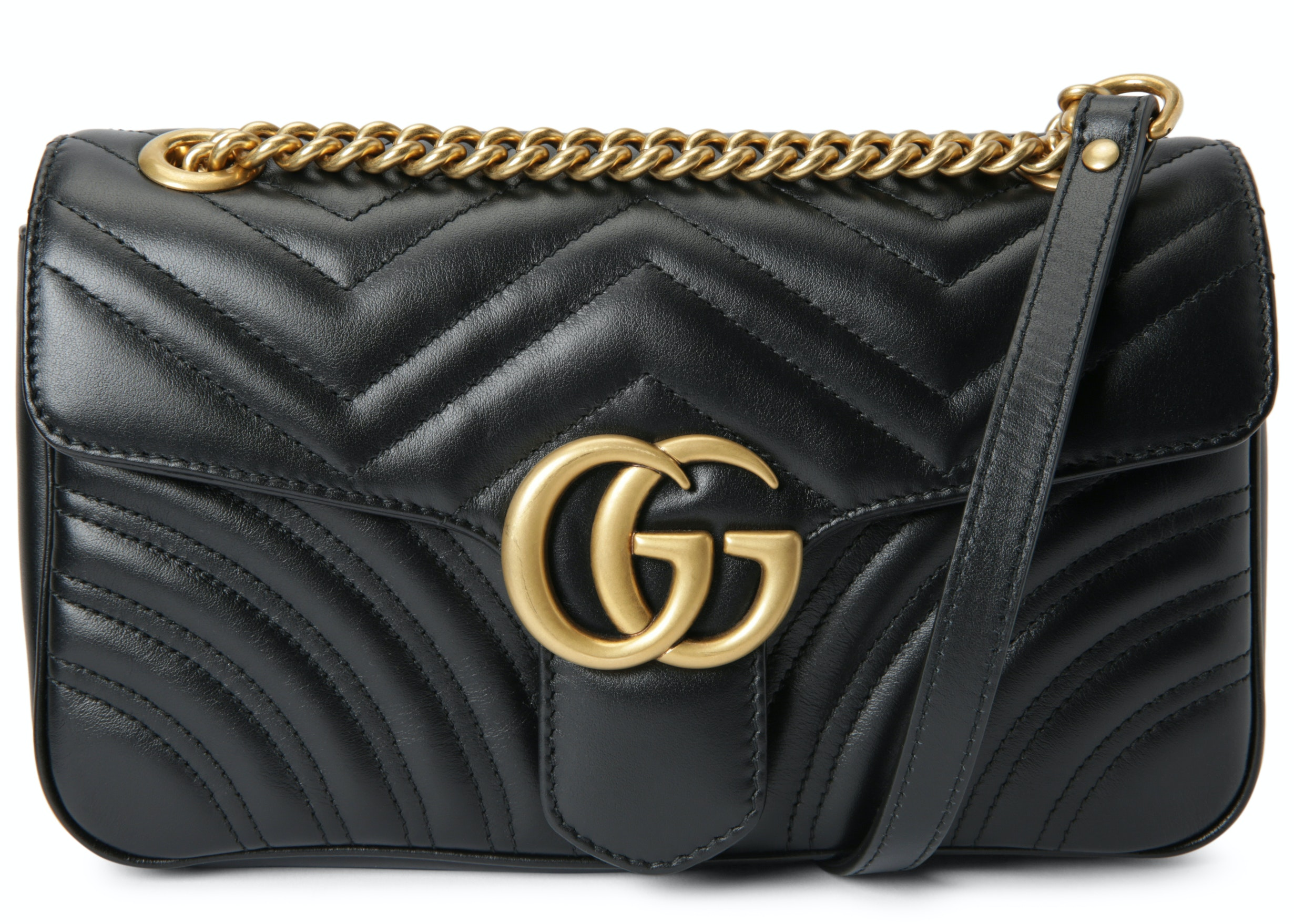 Gucci Marmont Shoulder Matelasse Small Black