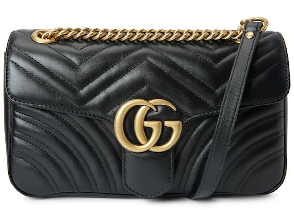 f90de41bfad Gucci Marmont Shoulder Matelasse Small Black