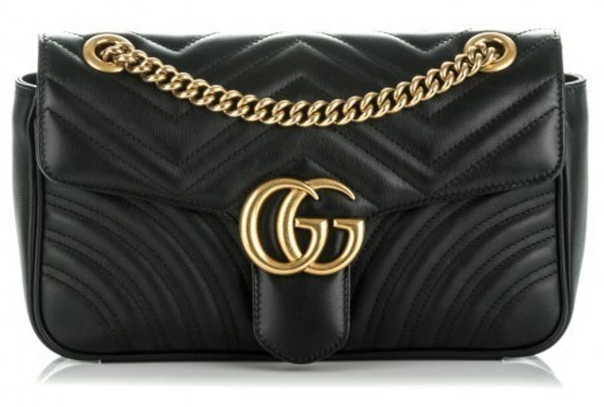 Gucci Marmont Shoulder Matelasse Small Black