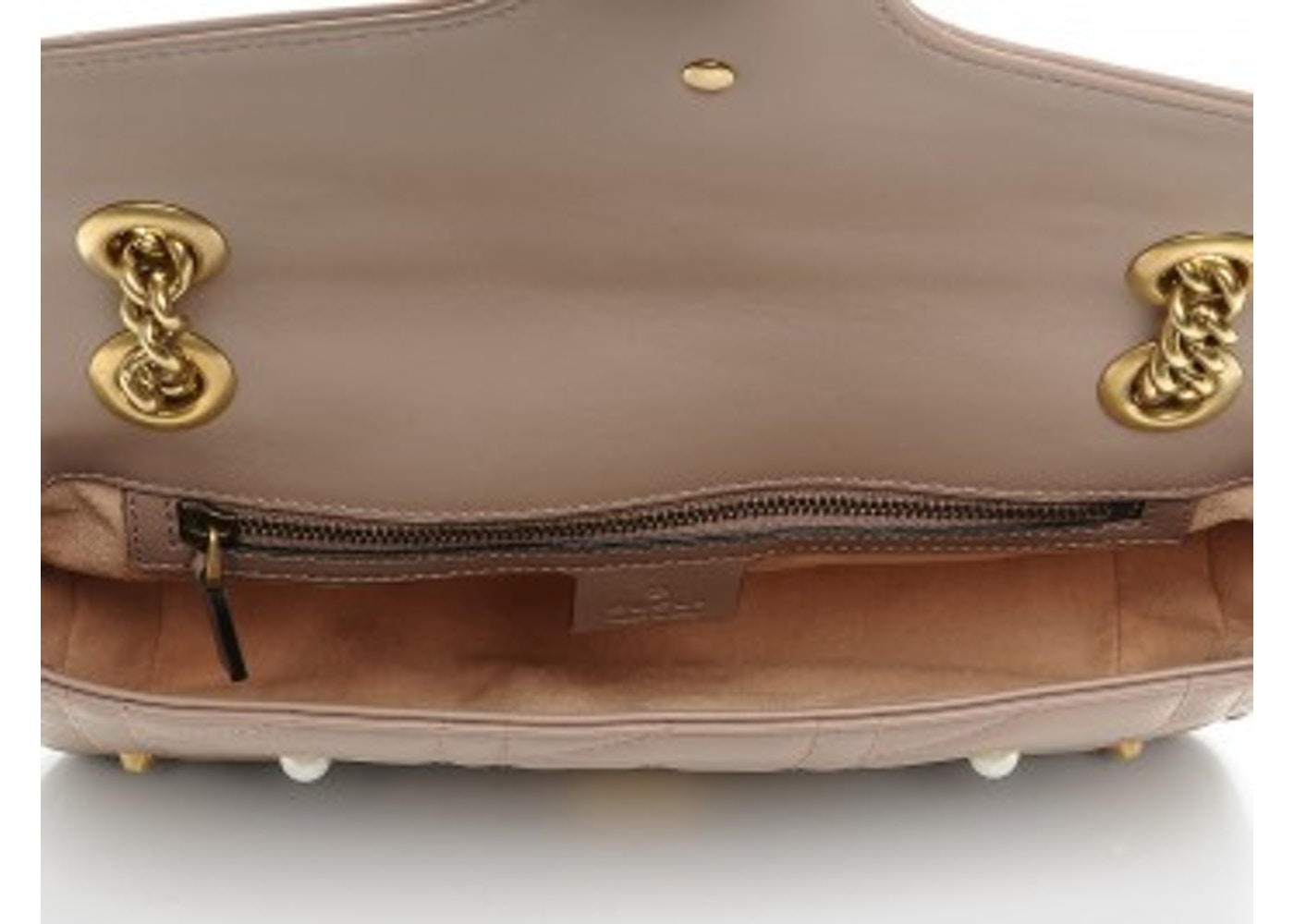 b08559d18273 Gucci Marmont Matelesse Pearl Studded Shoulder Dusty Pink