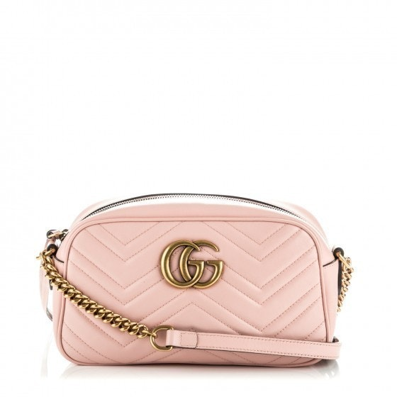Gucci Marmont Camera Bag Matelasse Small Pink