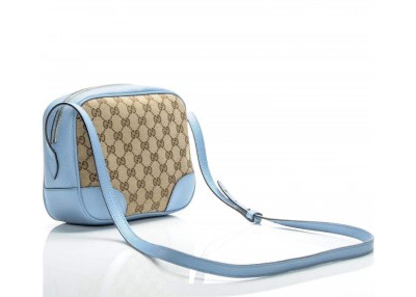 46dbc0ce3b4bee Gucci Bree Messenger Mini GG Canvas Blue