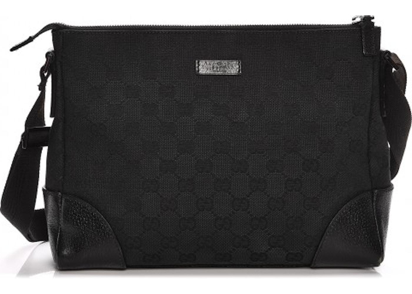 5b673b722 Gucci Messenger Shoulder Bag Monogram GG Black. Monogram GG Black