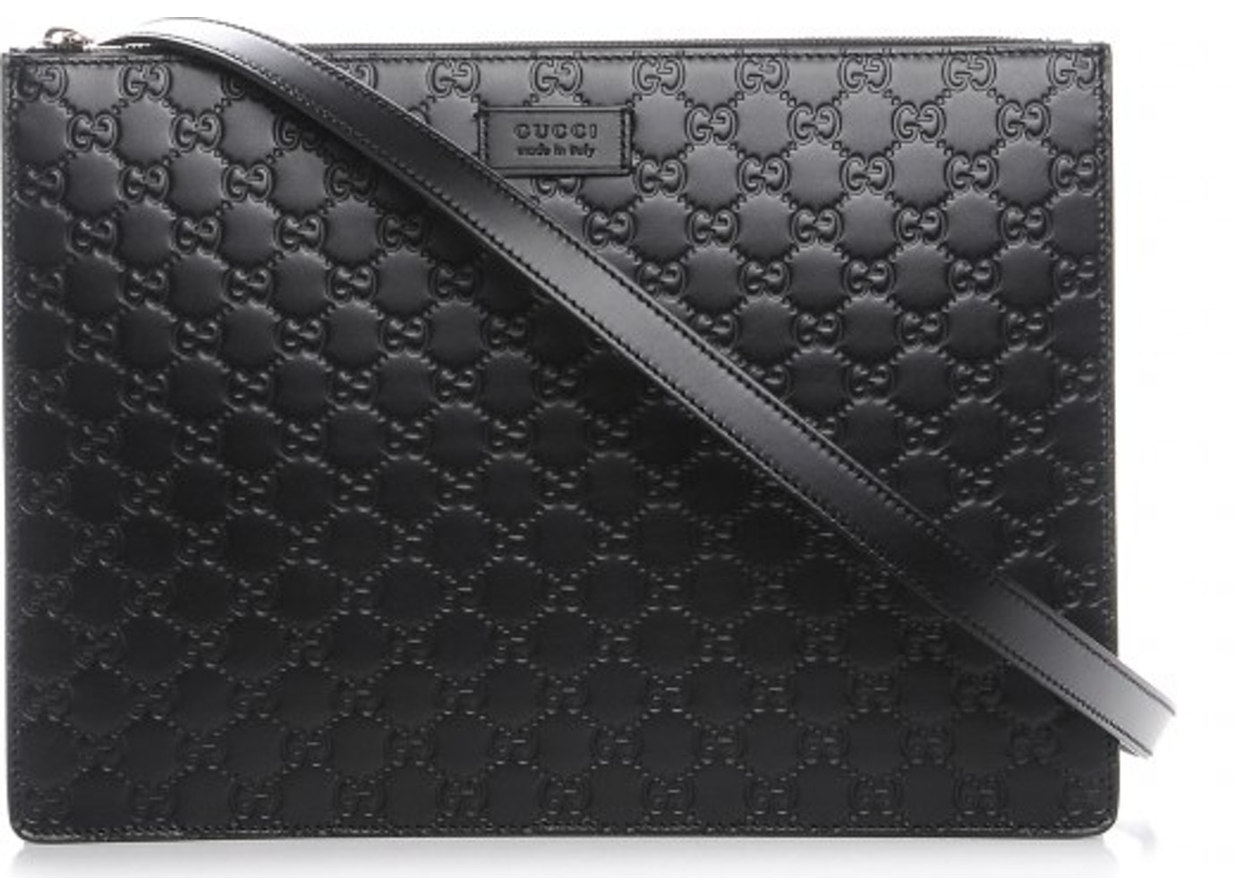 b6e937334 Gucci Signature Messenger Bag Monogram Guccissima Black. Monogram Guccissima  Black