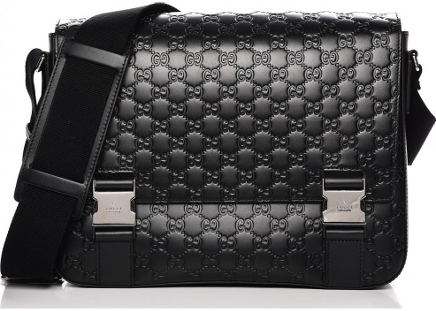d3863de5e Gucci Signature Messenger Monogram Guccissima Medium Black. Monogram  Guccissima Medium Black