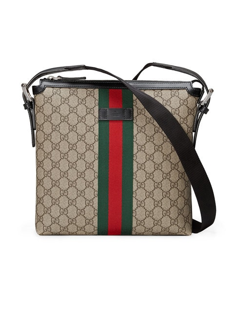 Gucci  MESSENGER SUPREME WEB GG BROWN/RED/GREEN