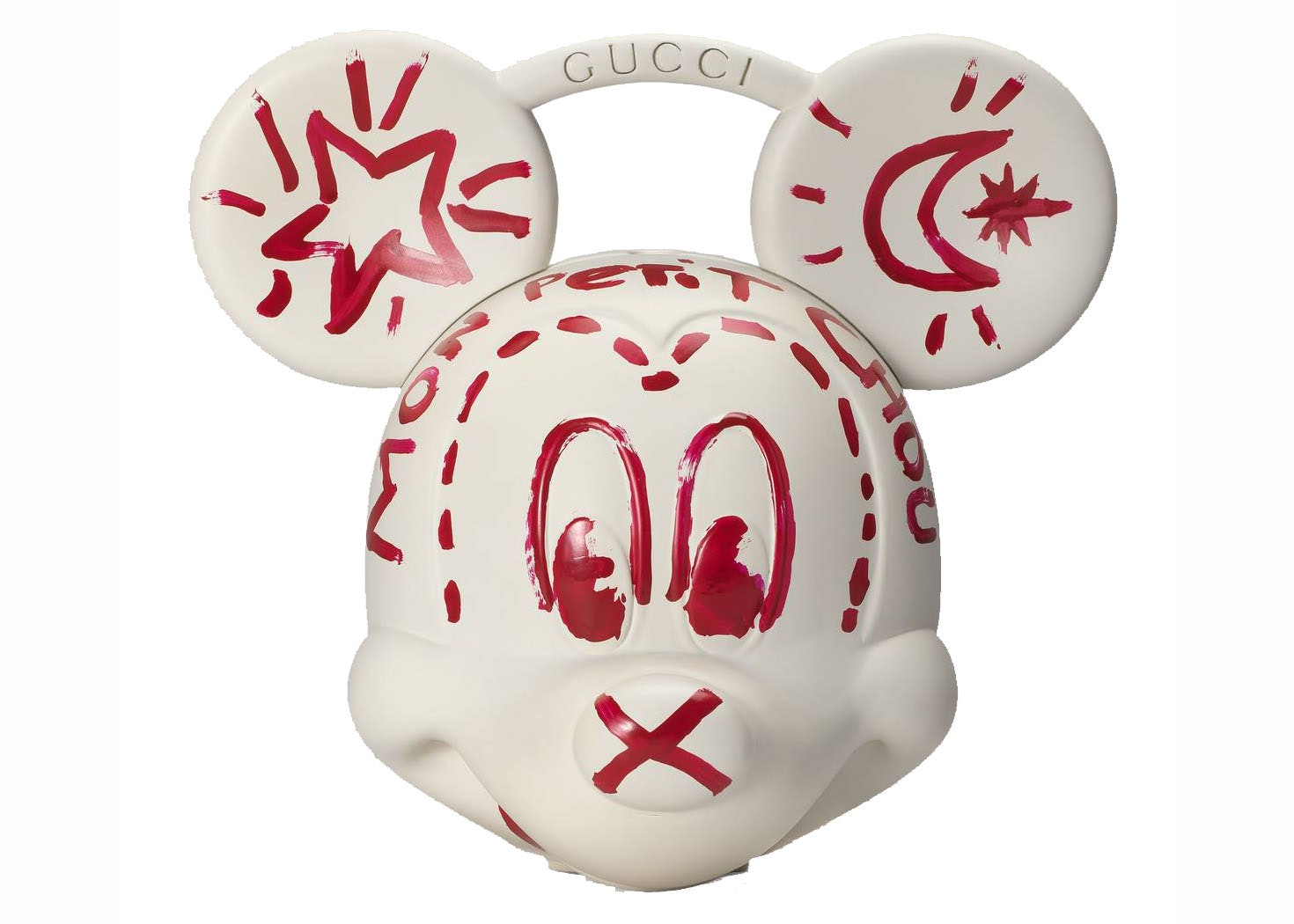 Gucci Mickey Mouse Top Handle White