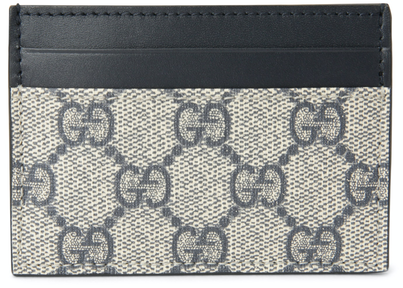 Gucci Money Clip Card Case GG Supreme Beige/Black