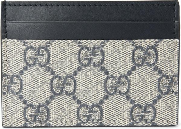 811b5e07046f Gucci Money Clip Card Case GG Supreme Beige/Black