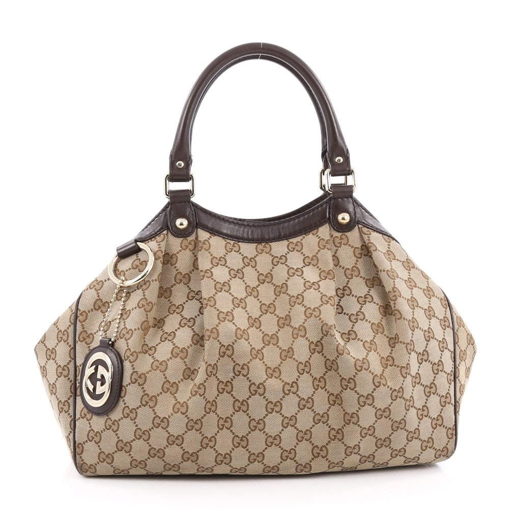 Gucci Sukey Tote GG Medium Dark Brown
