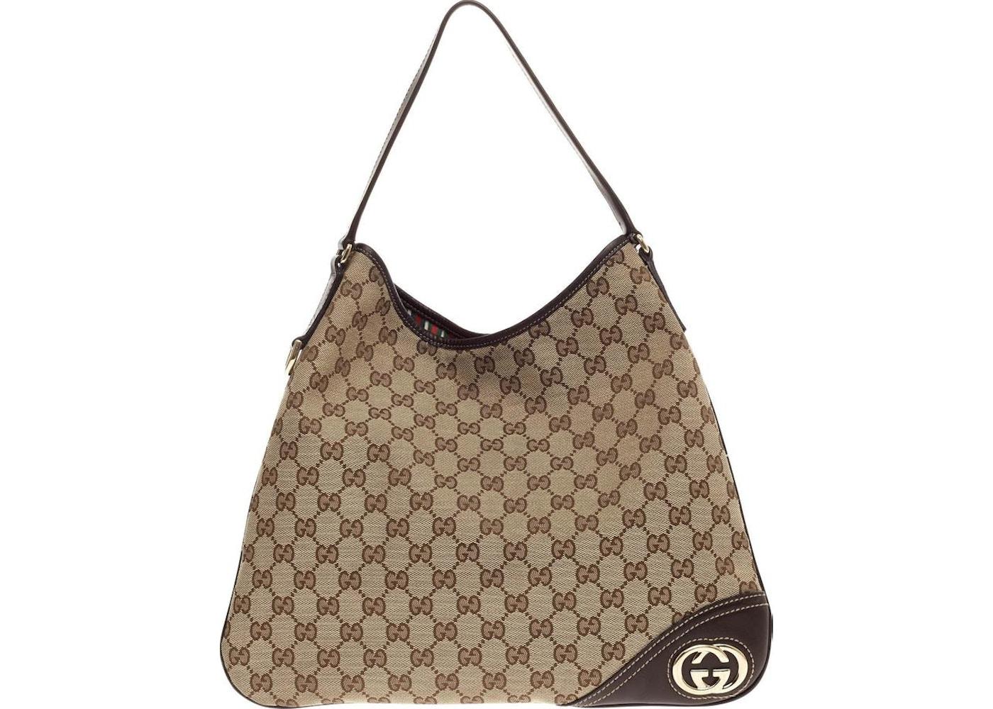29748fe4fbe Gucci Britt Hobo GG Interlocking GG Medium Brown. GG Interlocking GG Medium  Brown