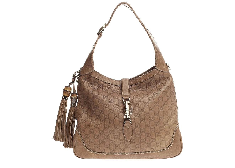 Gucci New Jackie Handbag Guccissima Medium Brown