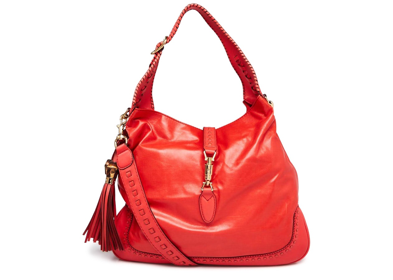Gucci New Jackie Hobo Large Red