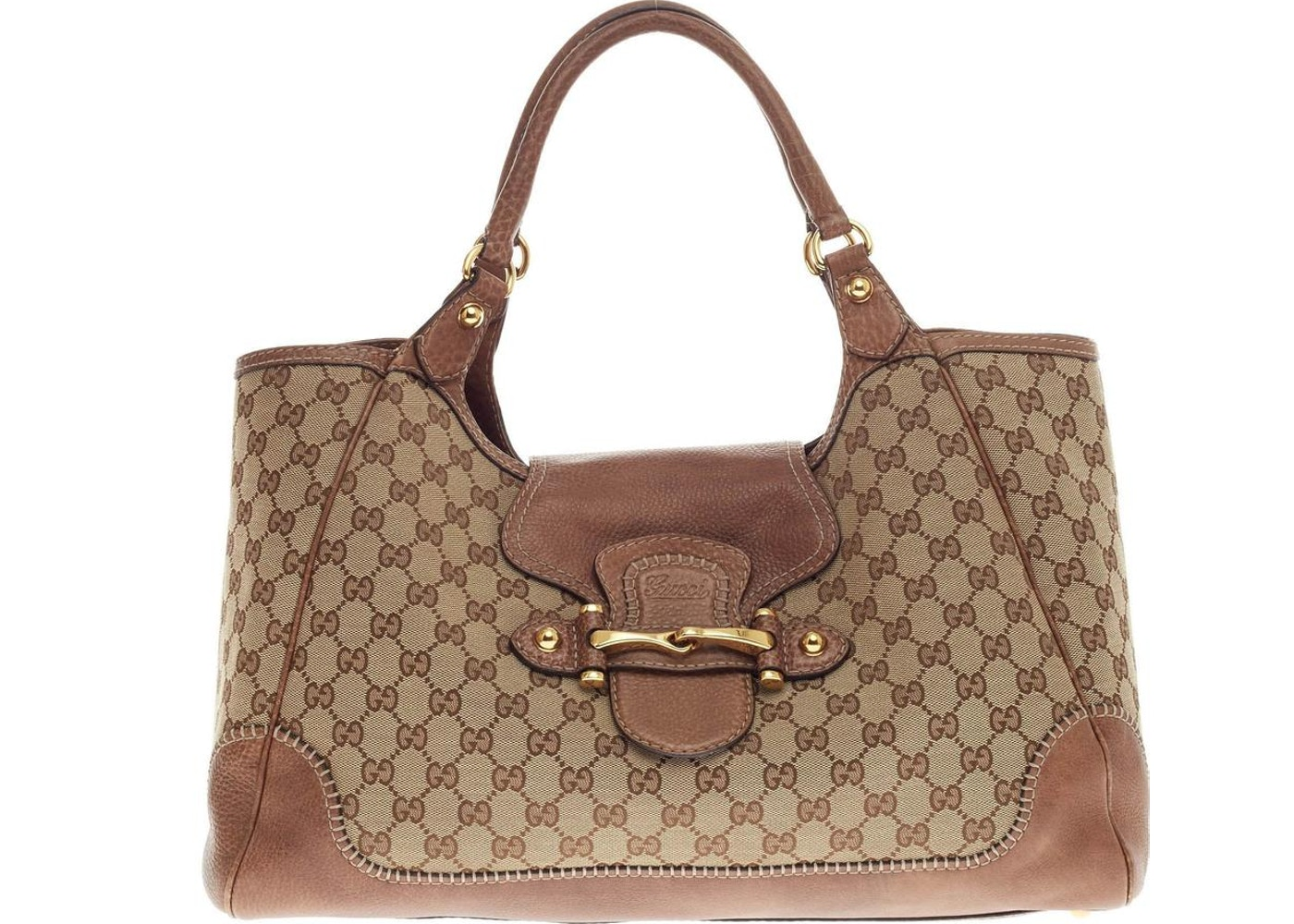 f9332f6410d Gucci New Pelham Tote GG Monogram Embossed GG Logo Large ...