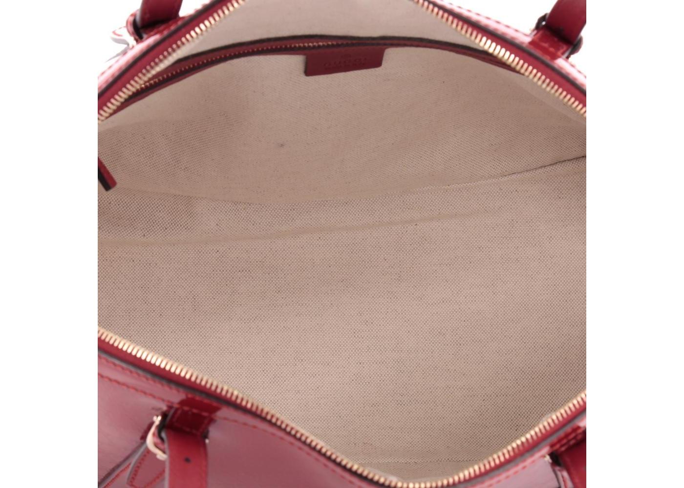 57bb6f600f19 Gucci Nice Top Handle Microguccissima Top Handle Medium Glossy Red