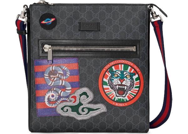 49e3c3abfd2 Gucci Night Courier Messenger GG Supreme Black