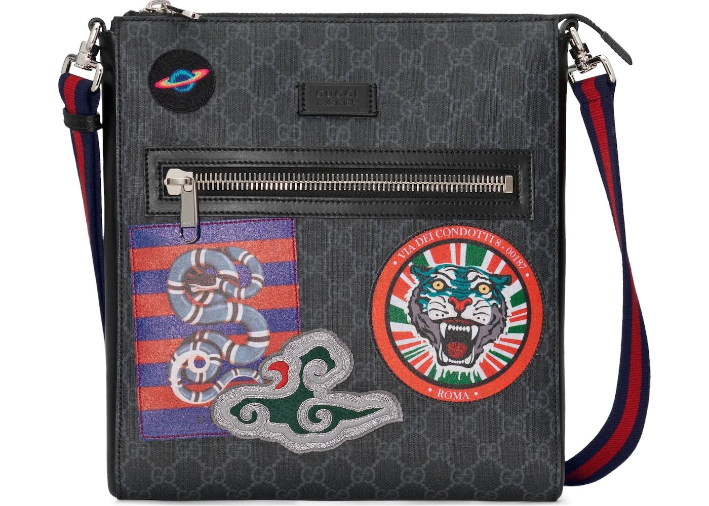 e5b92594f Gucci Night Courier Messenger GG Supreme Black. GG Supreme Black