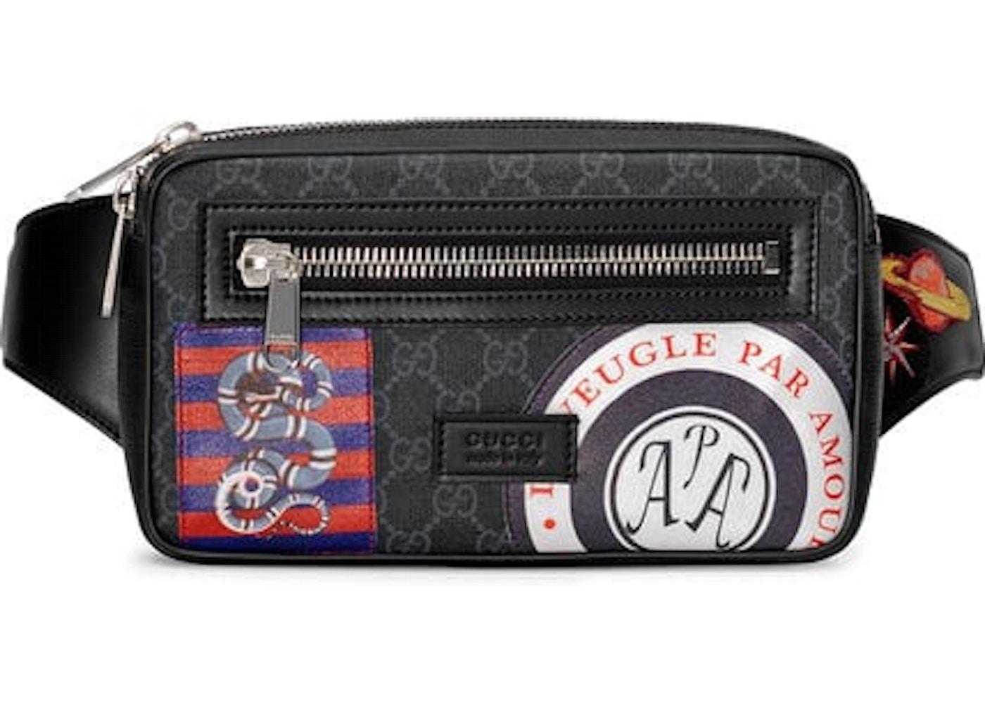 95fcd8e77 Gucci Night Courrier Waist Bag GG Supreme Soft Black. GG Supreme Soft Black