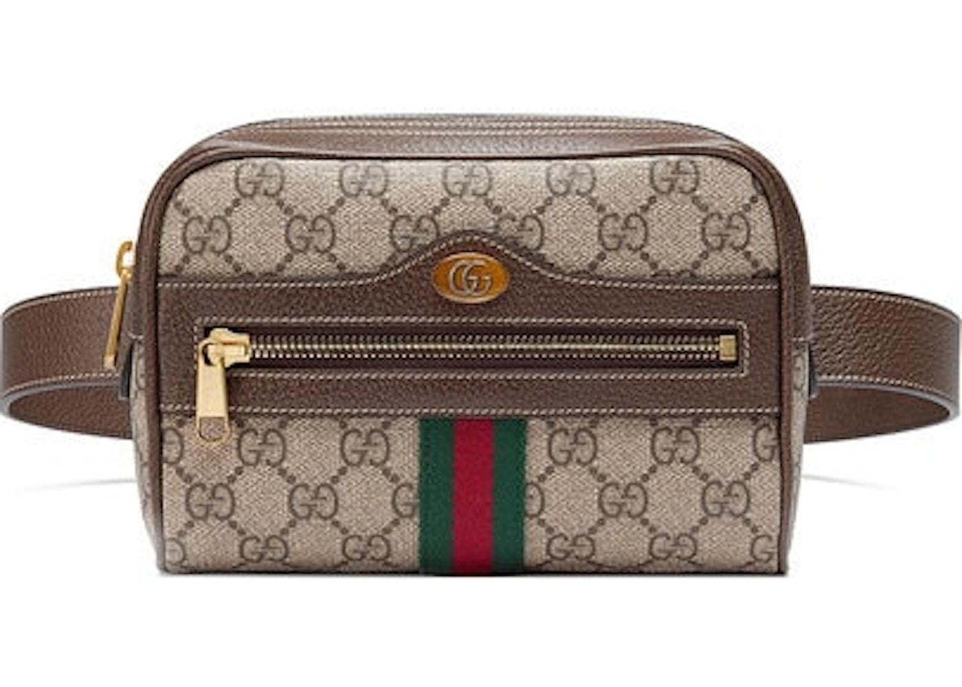7172a6adda452e Gucci Ophidia Belt Bag GG Supreme Small Beige/Ebony