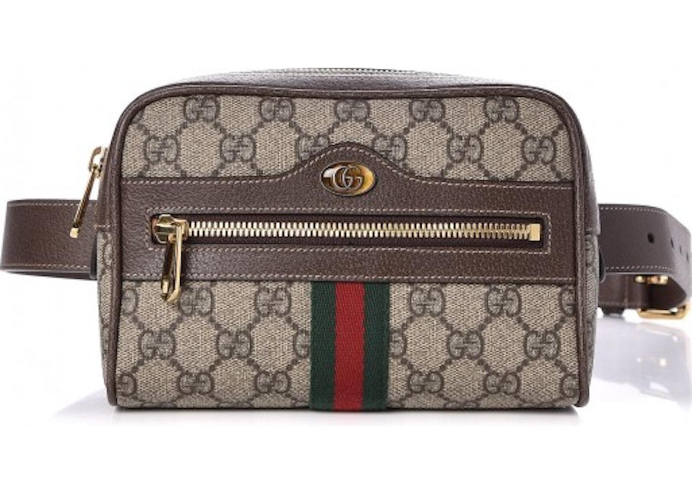 f7cdf3321 Gucci Ophidia Belt Bag Monogram GG Supreme Small Dark Brown