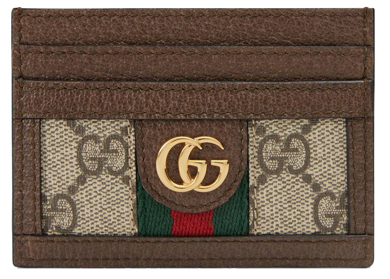 Gucci Ophidia Card Case GG Supreme Beige/Ebony