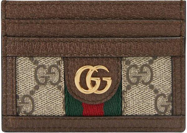 8ac42c155f4 Gucci Ophidia Card Case GG Supreme Beige/Ebony