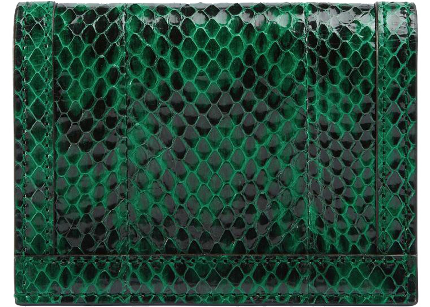 19b76bc899 Gucci Ophidia Card Case Snakeskin Emerald Green